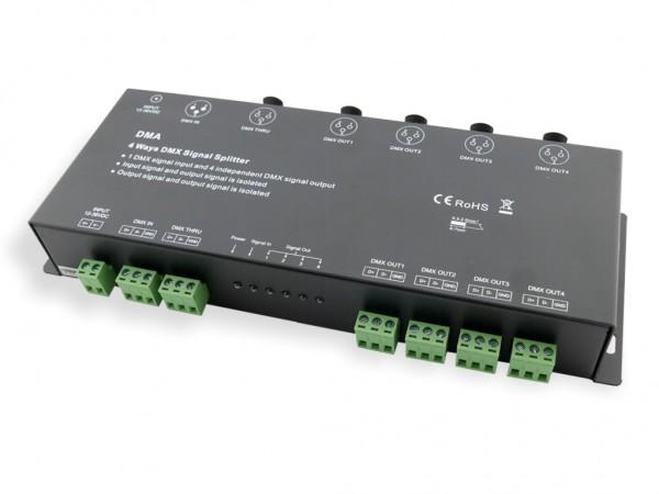 DMA 4-fach DMX Splitter + Verstärker XLR Schraubklemme 12-36VDC
