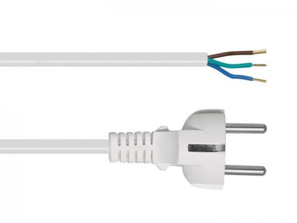 Anschlusszuleitung, H05 VV-F, 3 x 1², 2 m, weiß