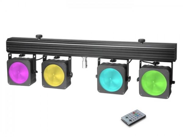 MultiPAR COB1 Kompakte 4 x 30 W RGB COB LED Lichtanlage inkl. Transportcase + Fernbedienung