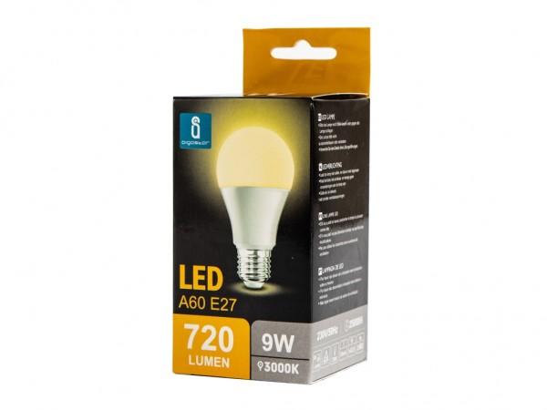 LED Leuchtmittel A60 9W E27 3000K warmweiss