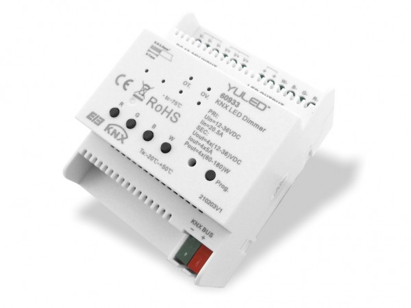 SR-KNX-DIN-4CH KNX LED Controller 4ch 4x5A DC 12-36V