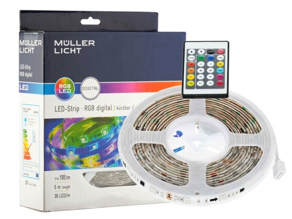 LED Stripe Digital Komplett-Set 5m RGB inkl. Controller 30LED/m