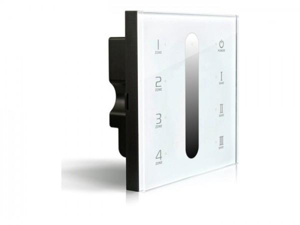 DX-5 RF LED Touchcontroller (Dimmer) Funk+DMX 2,4GHz 4-Zonen
