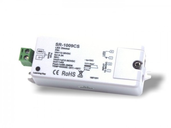 SR-1009CS LED Controller Funk Empfänger 1x8A 12-36V DC 868MHz