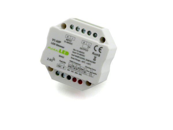 V1-H 1-Kanal Dimmer 12-48V 6-3A Push-DIM