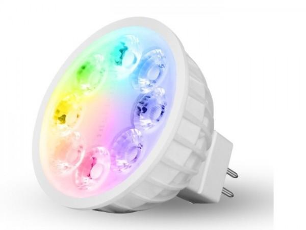 MI-104 LED Leuchtmittel MR16 12V AC RGB-CCT 4W 2,4GHz