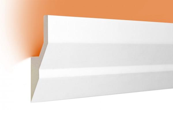 LED Stuckprofil Typ: 9 - 100x40mm PU 2m Länge lichtundurchlässig überstreichbar