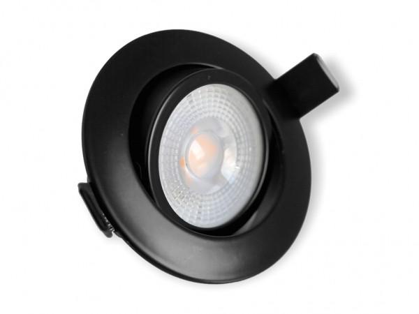 DL-701-7D LED Downlight 7W 3000K 600lm 3-Stufen-Dimmung schwarz