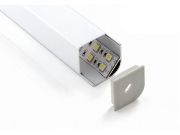 LED Profil ALP-45/30-E Eckprofil 30mm Schenkel opal Blende eckig, 2m