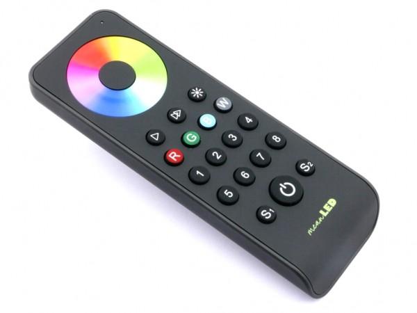 RS8 LED Controller FB 8 Zonen 2 Szenen RGBW Touchwheel Funk (2,4GHz)