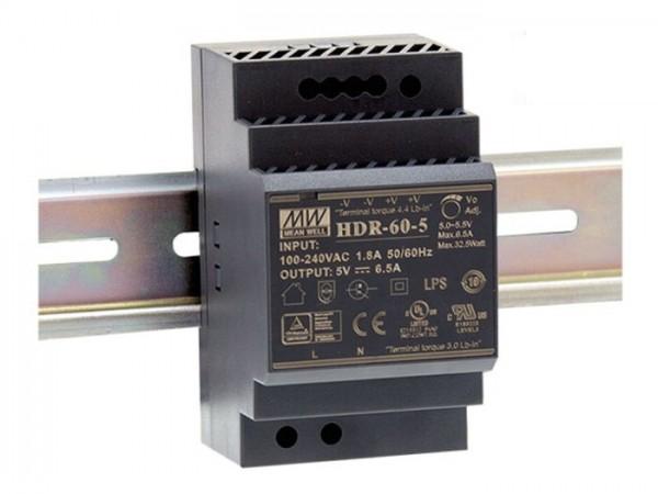 HDR-60 Hutschienen Netzteil 60W / ultra-slim / CV / TÜV