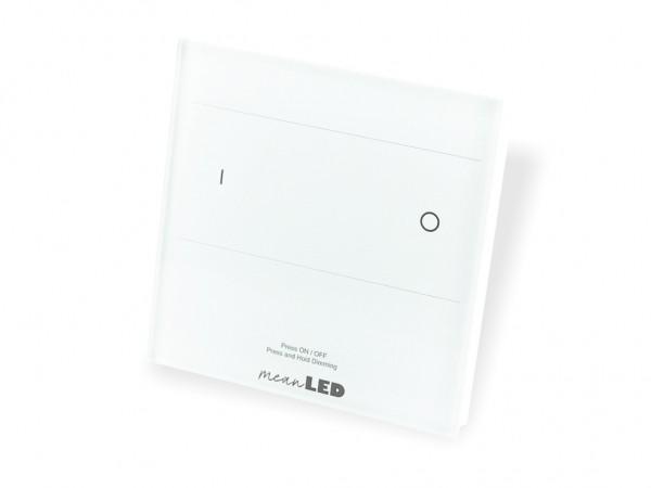 T16-1 DMX + RF Wandcontroller 1-Kanal 2,4GHz Touchcontrol weiss