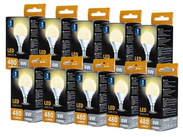 LED Leuchtmittel A5 G45 6W E14 3000K warmweiss 10er Pack