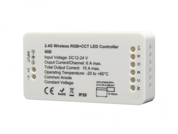 C005-RGBCCT Funk LED CCT Controller 5x6A DC12-24V