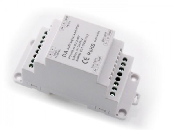 DA-2DMX 2-Kanal DMX Splitter / Verstärker Hutschiene