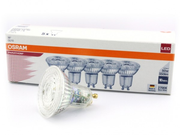 LED-Reflektorlampe, 5er-Pack,PARATHOM, PAR16, GU10 230V 4,3W