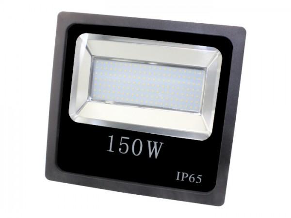 LED Flutstrahler 150W 120° 110lm/w CRI >80 Ra Schwarz IP 65 Outdoor