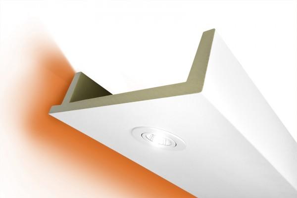 LED Stuckprofil Typ: 12 - 80x300mm PU 2m Länge lichtundurchlässig überstreichbar