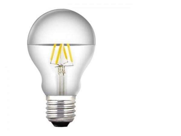 LED XF Birnenlampe 3,5W 300lm 230V 2700K, Glas klar Spiegelkopf dimmbar