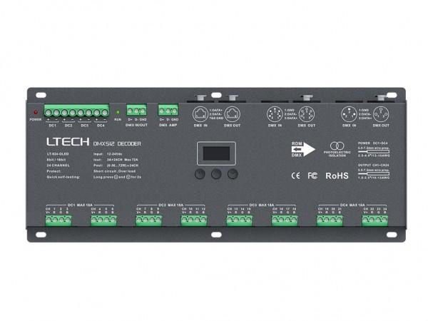 LT-924-OLED 24-Kanal DMX/PWM 24x3A LED Controller