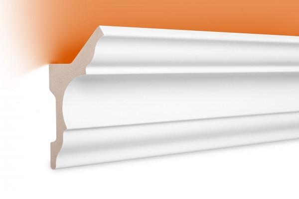 LED Stuckprofil Typ: 4 - 80x48mm PU 2m Länge lichtundurchlässig überstreichbar