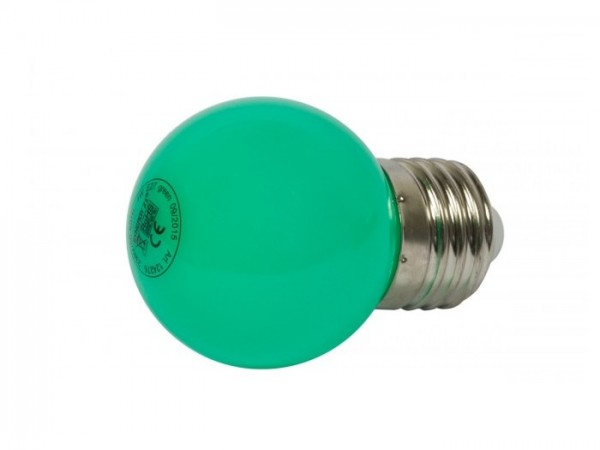 LED G45 Tropfenlampe 1W E27 230V Kunststoff ideal für Lichterketten - grün