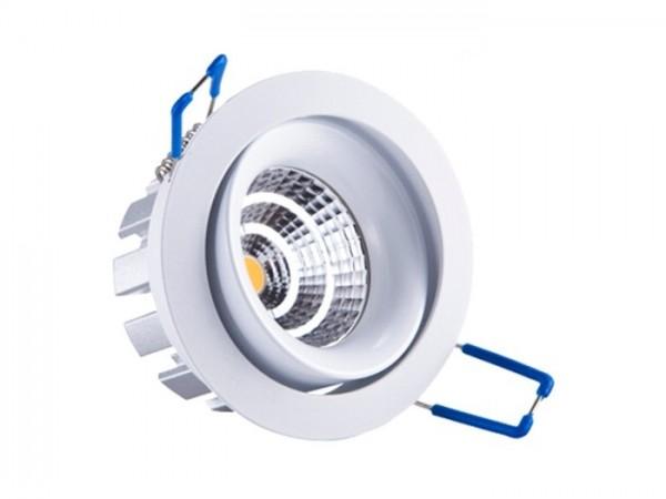 DL-WW-C8 LED Einbaudownlight schwenkbar, 8W SHARP COB 620lm, inkl. Netzteil dimmbar