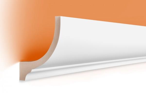 LED Stuckprofil Typ: 1 - 80x70mm - PU 2m Länge lichtundurchlässig überstreichbar
