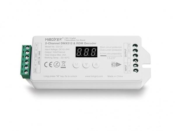 D2-CX DMX/RDM LED Dimmer 2-Kanal DC12-24V 20A