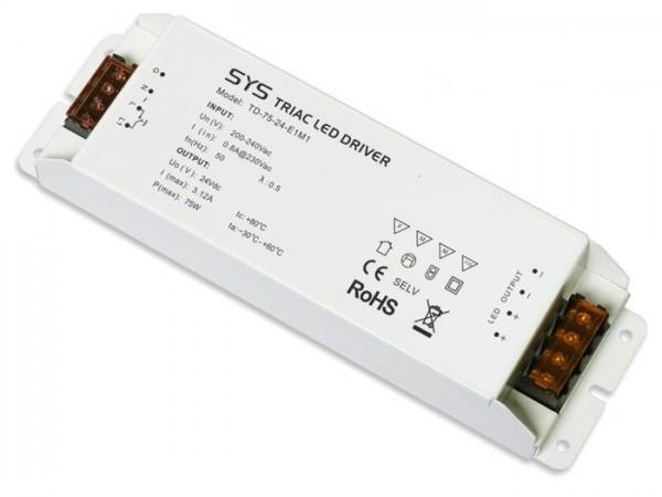 TD-75-24 dimmbarer LED Controller inkl. Netzteil 75W 24V CV