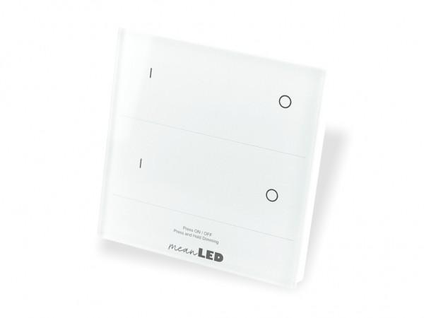 T16-2 DMX + RF Wandcontroller 2-Kanal 2,4GHz Touchcontrol weiss