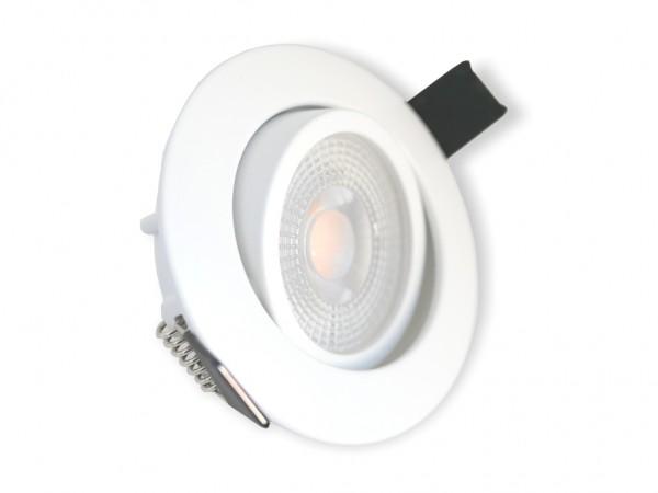 DL-701-7D LED Downlight 7W 3000K 600lm 3-Stufen-Dimmung weiss