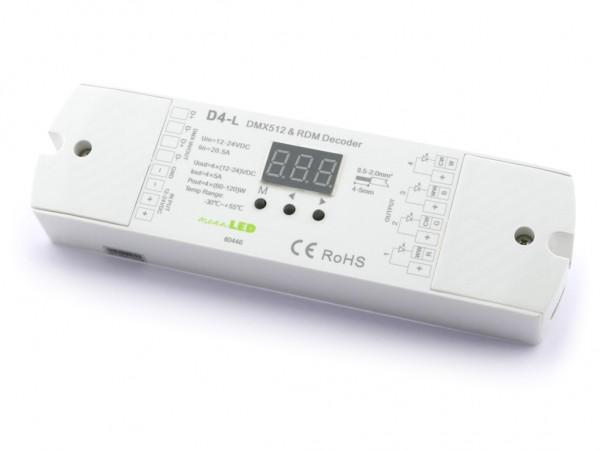 D4-L 4-Kanal DMX/RDM Controller 4x5A Auto Funktion 2 PWM Frequenzen