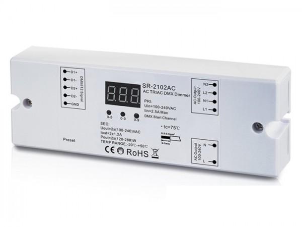 SR-2102AC 230V DMX Controller 2-Kanal Dimmerpack 2x1,2A