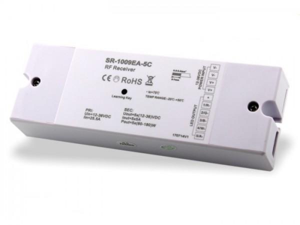 SR-1009EA-5C LED Controller Funk Empfänger RGB+CCT 5x5A 12-36V DC 868MHz