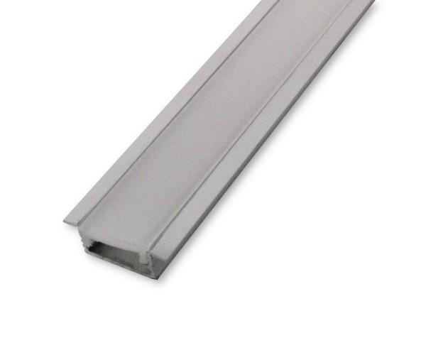 LED Alu-Profil AL-02EB 2m inkl. Blende Einbauprofil