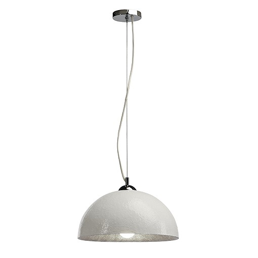 FORCHINI PD-2 Design Pendelleuchte weiss / silber