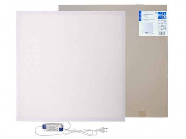 LED Panel 620x620mm 3000K 36W 3600lm weißer Rahmen inkl. Netzteil