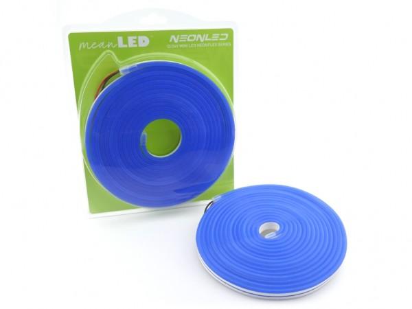 MINI neonLED Silikon-Schlauch 5m Rolle 8W/m 12VDC IP67 Farbe: Blau (470nm)