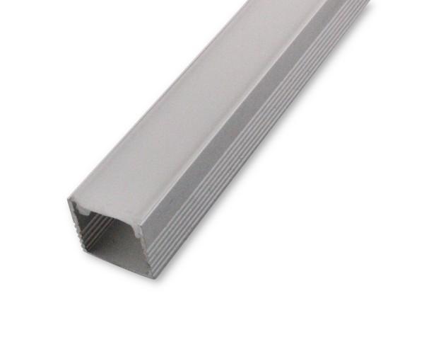 LED Alu-Profil AL-03AB 2m inkl. Blende Aufbauprofil