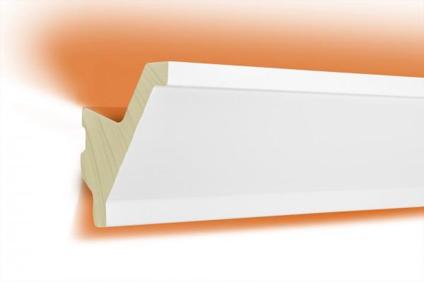 LED Stuckprofil Typ: 15 - 80x80mm PU 2m Länge lichtundurchlässig überstreichbar