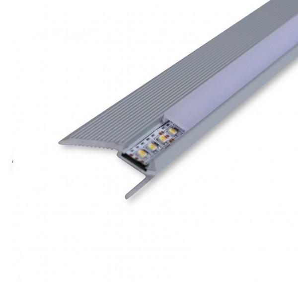 LED Alu-Treppenprofil AL-07TR 2m inkl. Blende Aufbauprofil