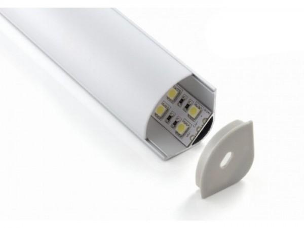 LED Profil ALP-45/30-R Eckprofil 30mm Schenkel opal Blende rund, 2m