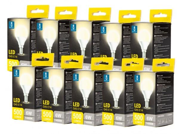 LED Leuchtmittel A5 G45 6W E14 4000K neutralweiss 10er Pack