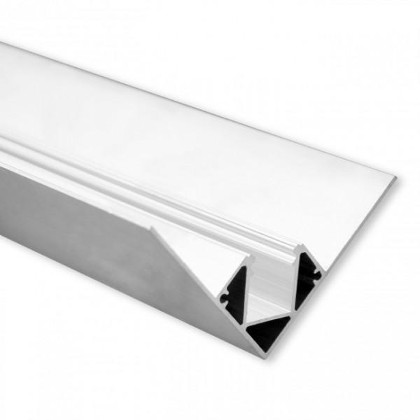LED Gipsplatten-Profil TBP6 (satiniert) ohne Blende 2m