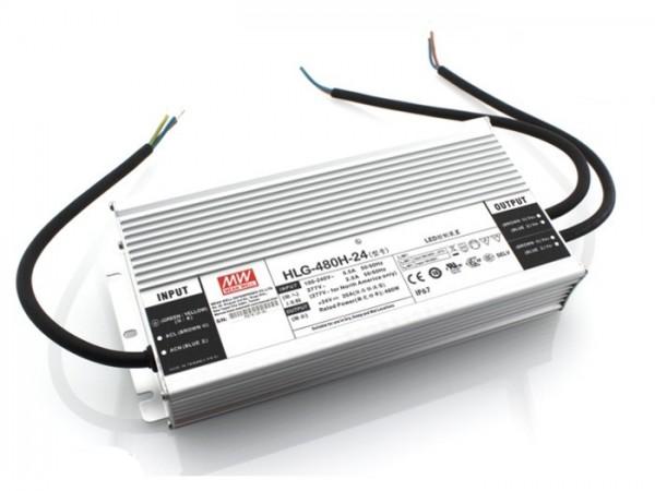 HLG-480H-24A In- und Outdoor Netzteil IP67 24V / 480W / TÜV