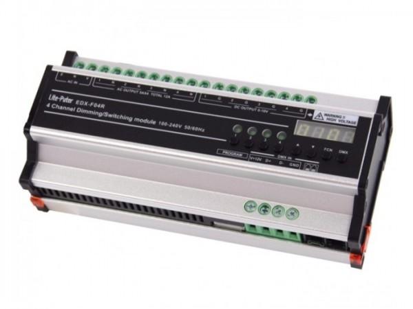 EDX-F04R 4-Kanal DMX Hutschienen Dimmer 4x5A