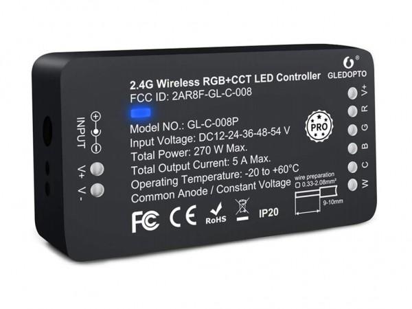 C008-RGBCCT ZigBee 3.0 LED Controller 10A DC12-24V PRO