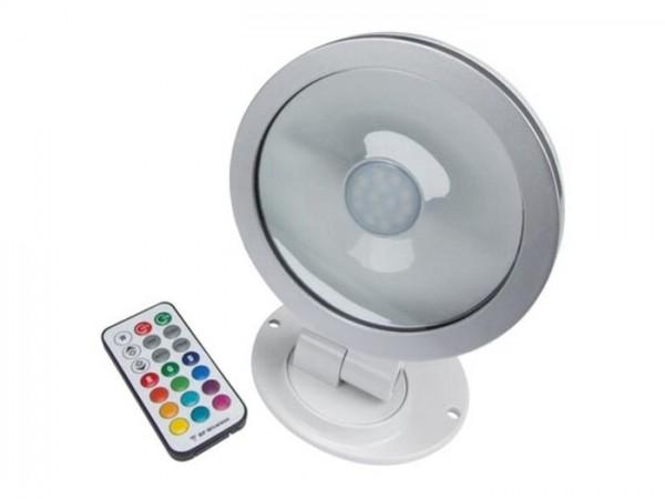 A4012-RGB 20W LED Aussenscheinwerfer inkl. RF Fernbedienung weiss