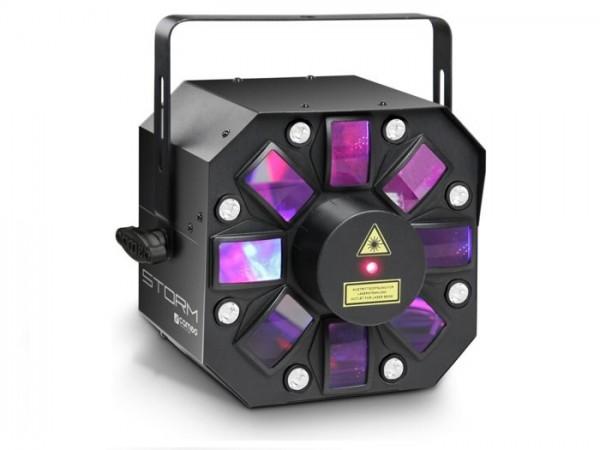 STORM LED 3-in-1 Effekt RGBWA + Laser + 8x1W Strobe